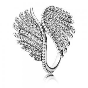 Anel PANDORA Magestic Feathers Coleção Anéis 190960CZ