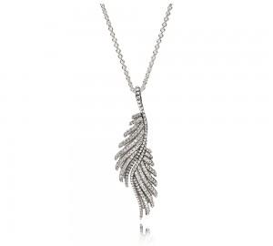 Colar PANDORA Majestic Feathers Coleção Colares e Pendentes 390373CZ-70