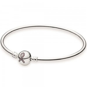 Pulseira Bangle PANDORA Breast Cancer Awareness 590725CZS