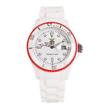 Relógio Benfica Branco Linha Vermelha Madison CandyTime SLB4524-53
