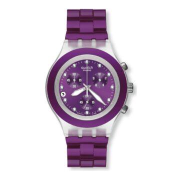 Relógio Swatch Full-Blooded Blueberry Coleção Irony SVCK4048AG