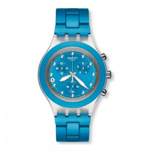 Relogio Swatch Full-Blooded Cyan Coleção Irony SVCK4053AG
