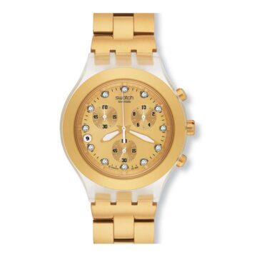 Relógio Swatch Full Blooded Dourado SVCK4032G