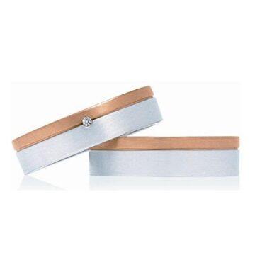 LXBOUTIQUE - Alianças Casamento INVOG IPW4B2 Ouro Bicolor