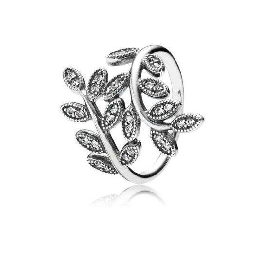 Anel PANDORA Sparkling Leaves 190921CZ