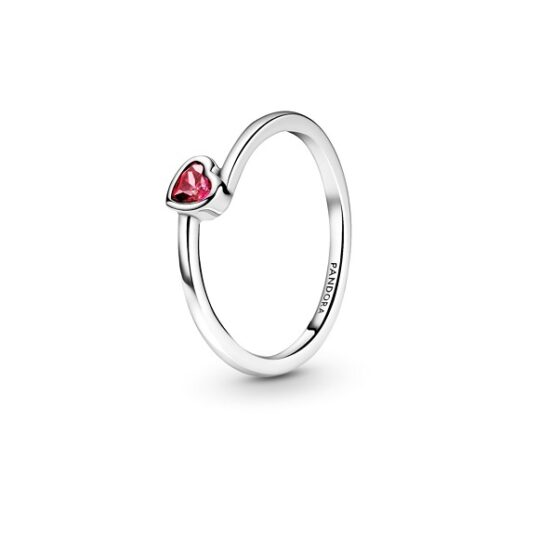 LXBOUTIQUE - Anel PANDORA Red Tilted Heart Solitaire 199267C01