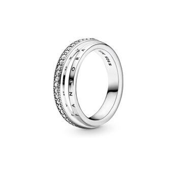 LXBOUTIQUE - Anel Pandora Triple Band Pavé 199040C01