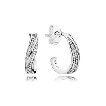 LXBOUTIQUE - Argolas PANDORA Elegant Waves 297097CZ