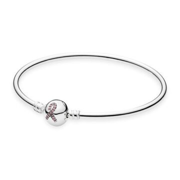 LXBOUTIQUE - Pulseira Bangle PANDORA Breast Cancer Awareness 590725CZS