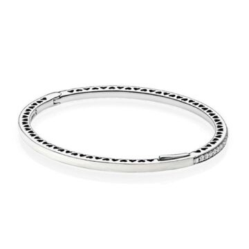 LXBOUTIQUE - Bangle PANDORA Radiant Hearts Branca 590537EN23