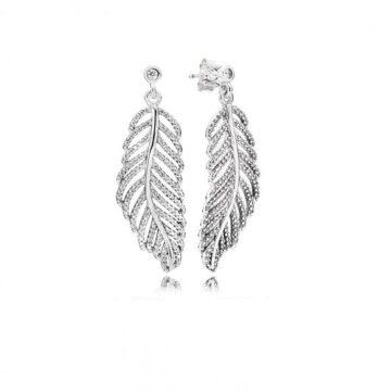 LXBOUTIQUE - Brincos PANDORA Shimmering Feathers 290584CZ