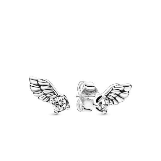 LXBOUTIQUE - Brincos PANDORA Sparkling Angel Wing 298501C01