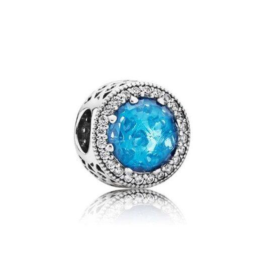 LXBOUTIQUE - Conta PANDORA Botão Azul 791725NBS