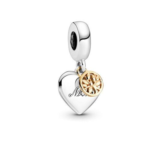 LXBOUTIQUE - Conta Pandora Coração & Árvore de Família 14K 799366C00
