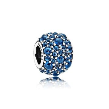 LXBOUTIQUE - Conta PANDORA Pavé Droplets Azul 791755NLB