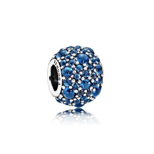 LXBOUTIQUE - Conta PANDORA Pavé Droplets Azul 791755NLB