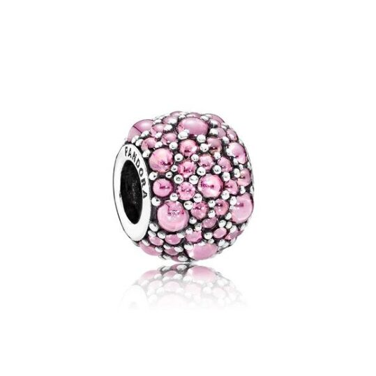 LXBOUTIQUE - Conta PANDORA Droplets Cor de Rosa