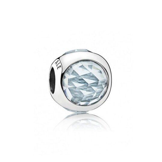 LXBOUTIQUE - Conta PANDORA Radiant Droplet Azul Água 792095NAB