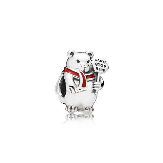 LXBOUTIQUE - Conta PANDORA Urso Polar de Natal 796466EN39
