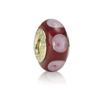 LXBOUTIQUE - Conta PANDORA Vidro de Murano Vermelho com Círculos 750401