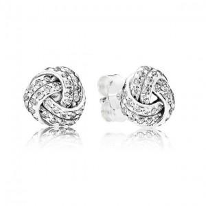 LXBOUTIQUE - Brincos PANDORA Sparkling Love Knots - 290696CZ