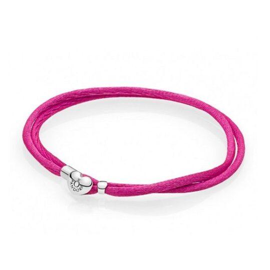 LXBOUTIQUE - Pulseira PANDORA da Amizade em Cordão Cor de rosa 590749CPH