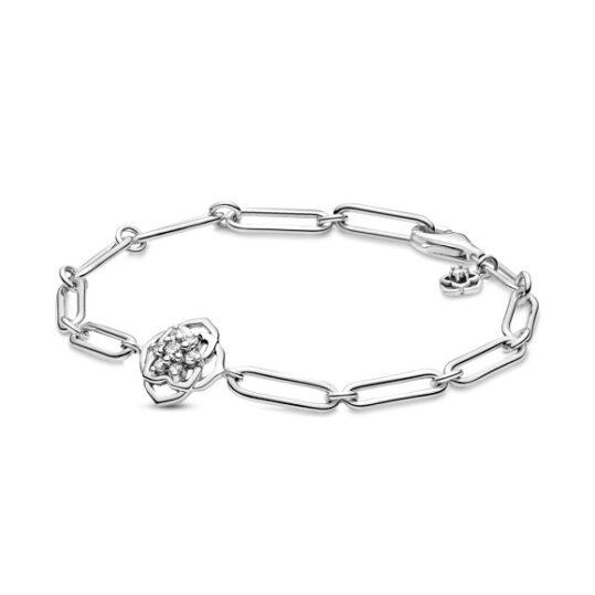 LXBOUTIQUE - Pulseira Pandora de Elos & Pétalas de Rosa 599409C01
