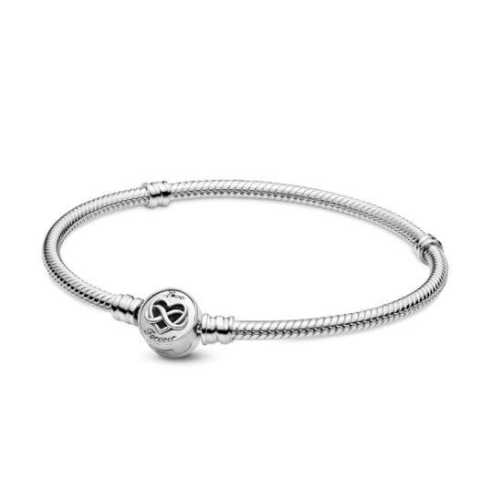 LXBOUTIQUE - Pulseira Pandora Snake Fecho Coração & Infinito Love Forever 599365C00