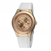LXBOUTIQUE - Relógio One Style Box Bracelete Borracha Branca