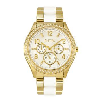 LXBOUTIQUE - Relógio Eletta Glitz White Gold ELA340MBMT