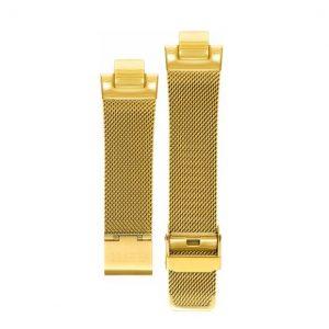 LXBOUTIQUE - Relógio Eletta Icon Square Gold Pulseira Milanesa