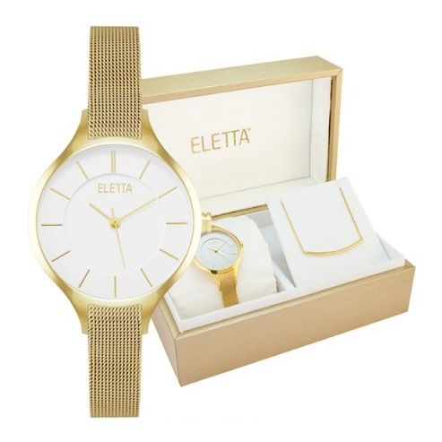 LXBOUTIQUE - Relógio Eletta Kit Vogue Gold ELA560LBMGX