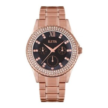 LXBOUTIQUE - Relógio Eletta Lux Black Rose ELA340MPMR