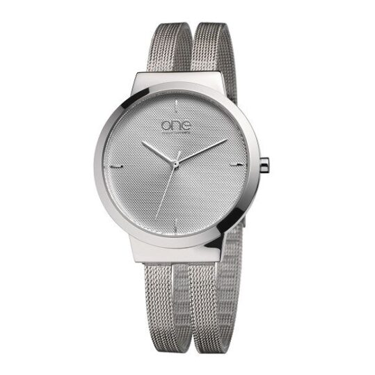 LXBOUTIQUE - Relógio One Dual Prateado OL7617SS72L