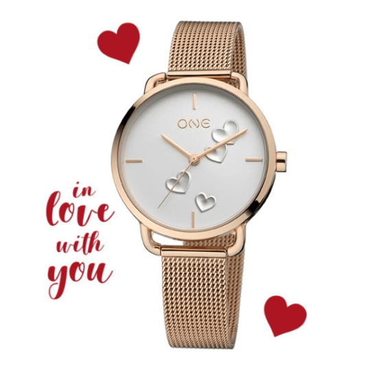 LXBOUTIQUE - Relógio One Love 2019 Rose Gold